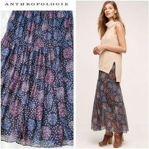 Anthropologie Maeve Moon Lake Maxi Skirt